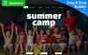 Plantilla Moto CMS 3  Responsive para Sitio de  para Sitios de Campamentos de verano New Screenshots BIG
