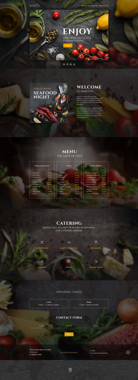 Plantilla Para Página De Aterrizaje Responsive para Sitio de Restaurantes italianos #58460 - captura de pantalla