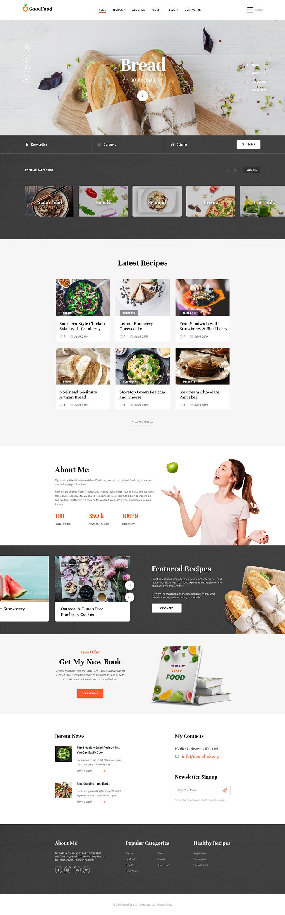 Plantilla web 58456 para sitio de cocina for Plantillas de cocina