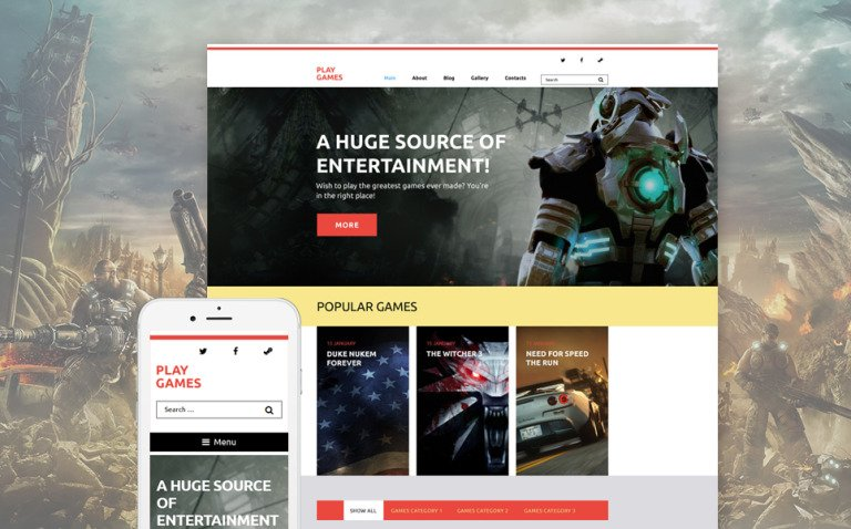 Play Games WordPress Theme New Screenshots BIG