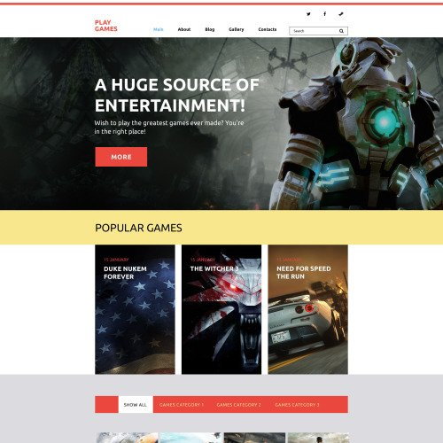 Play Games - Games Portal Template based on Bootstrap