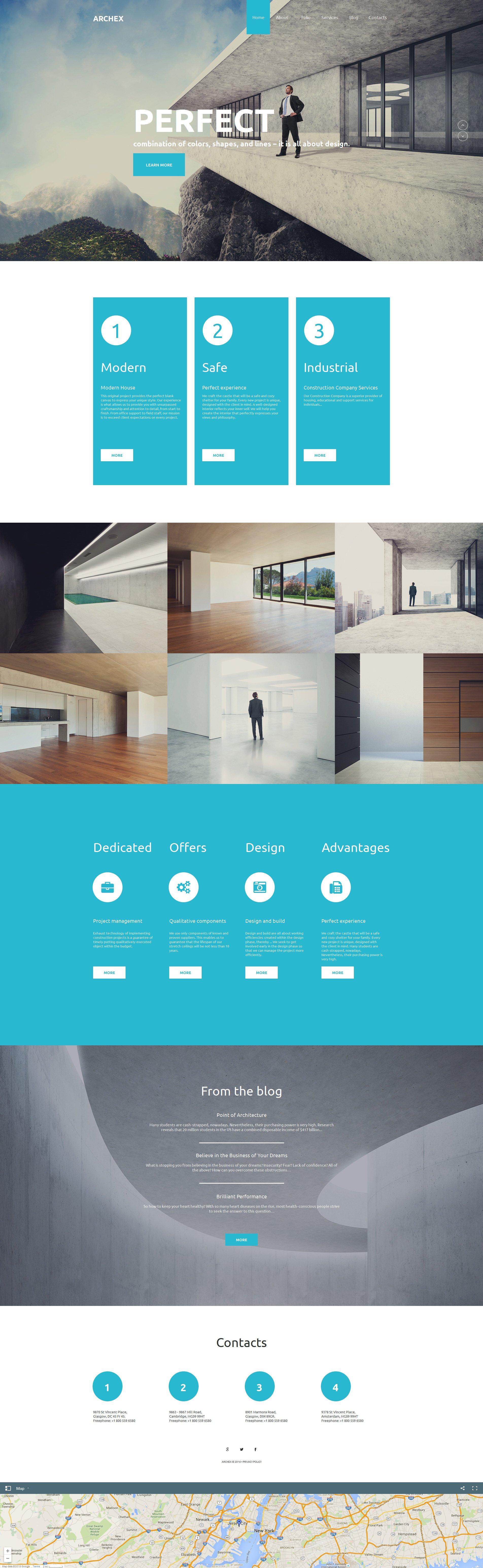 Prémium Építészet témakörű Moto CMS HTML sablon 58473