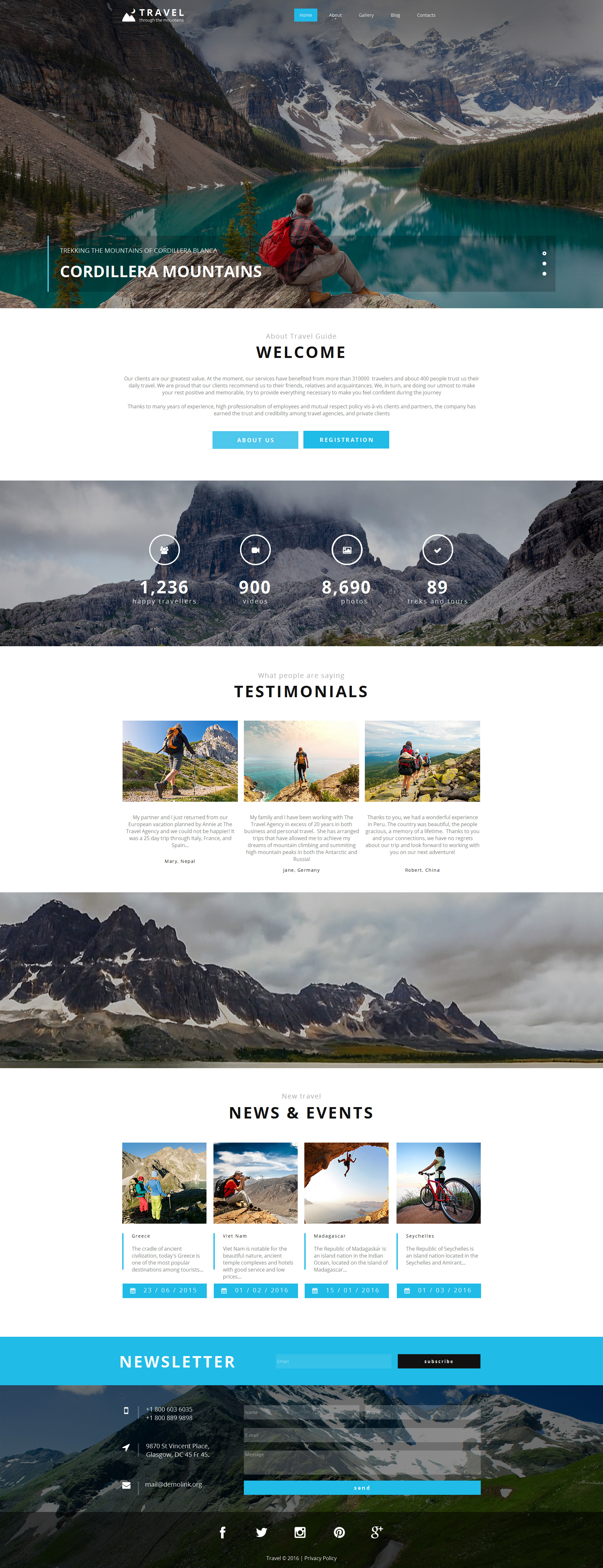 Premium Moto CMS HTML Template over Reisbureau №58474 - screenshot