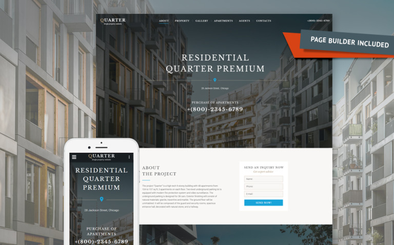 Real Estate Responsive Landing Page Template New Screenshots BIG
