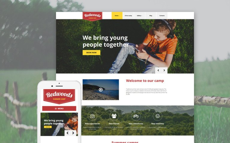 Redwoods WordPress Theme New Screenshots BIG