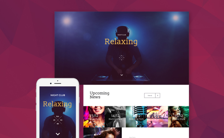 Relaxing Landing Page Template