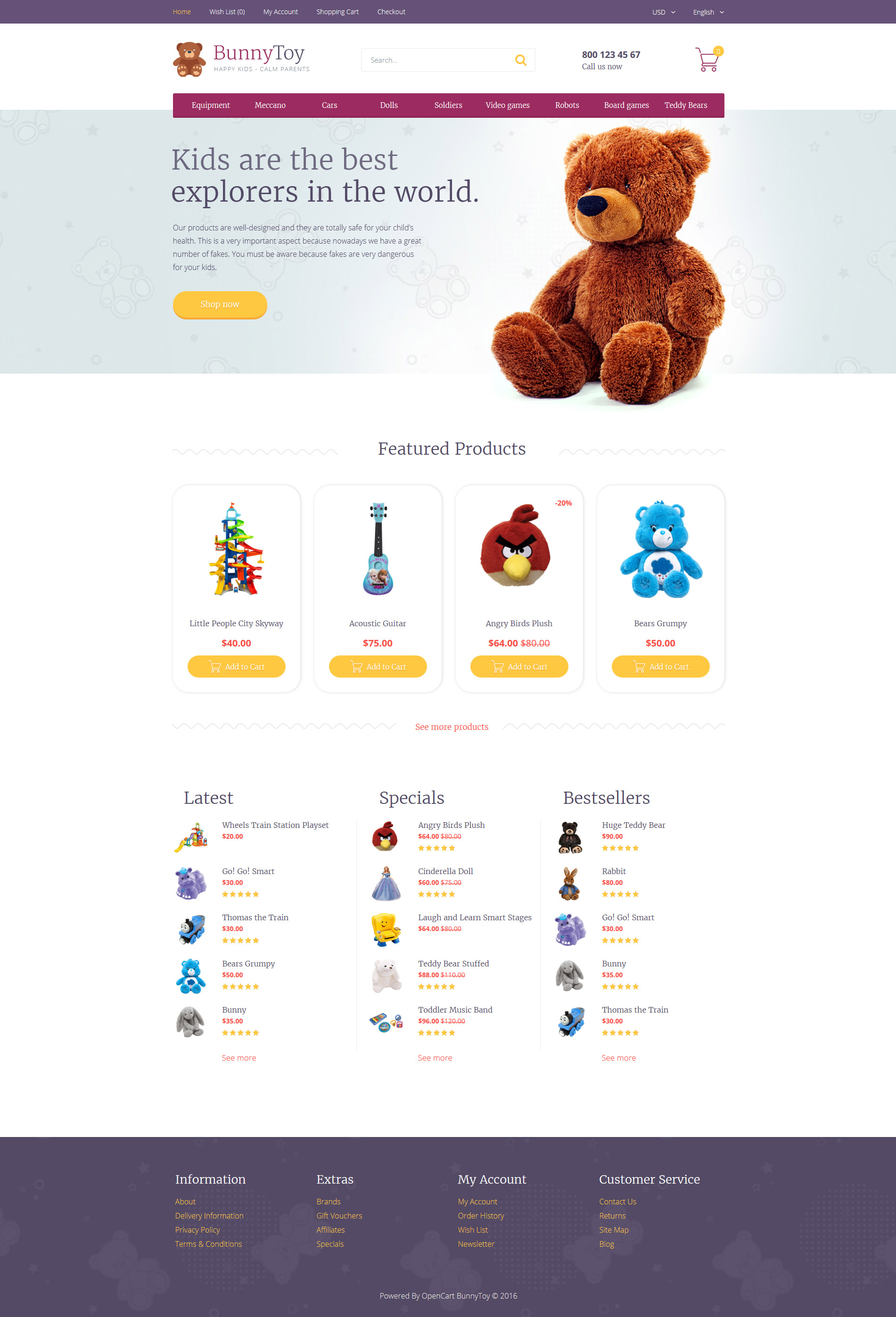Responsive Bunny Toy Opencart #58451