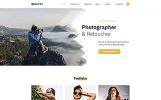 Responsive Davis - Photographer Portfolio Multipage HTML5 Web Sitesi Şablonu