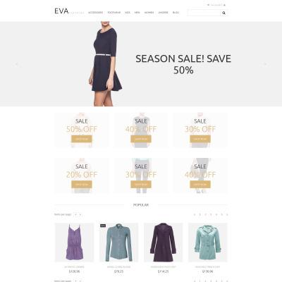 Responsive MotoCMS E-Commerce Vorlage für Bekleidung
