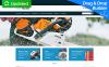 Responsive MotoCMS Ecommercie Template over Instrumenten en apparatuur  New Screenshots BIG