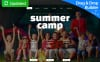 Responsive Yaz Kampı  Moto Cms 3 Şablon New Screenshots BIG