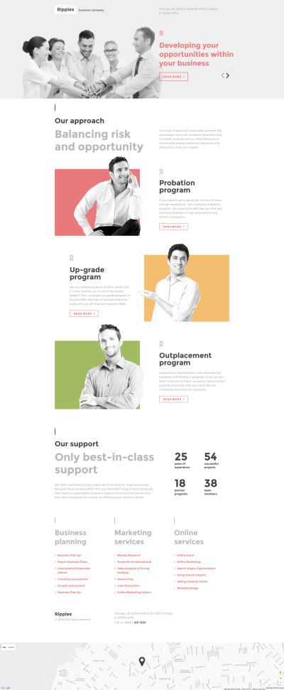 Responsives Landing Page Template für Business und Dienstleistungen #58480