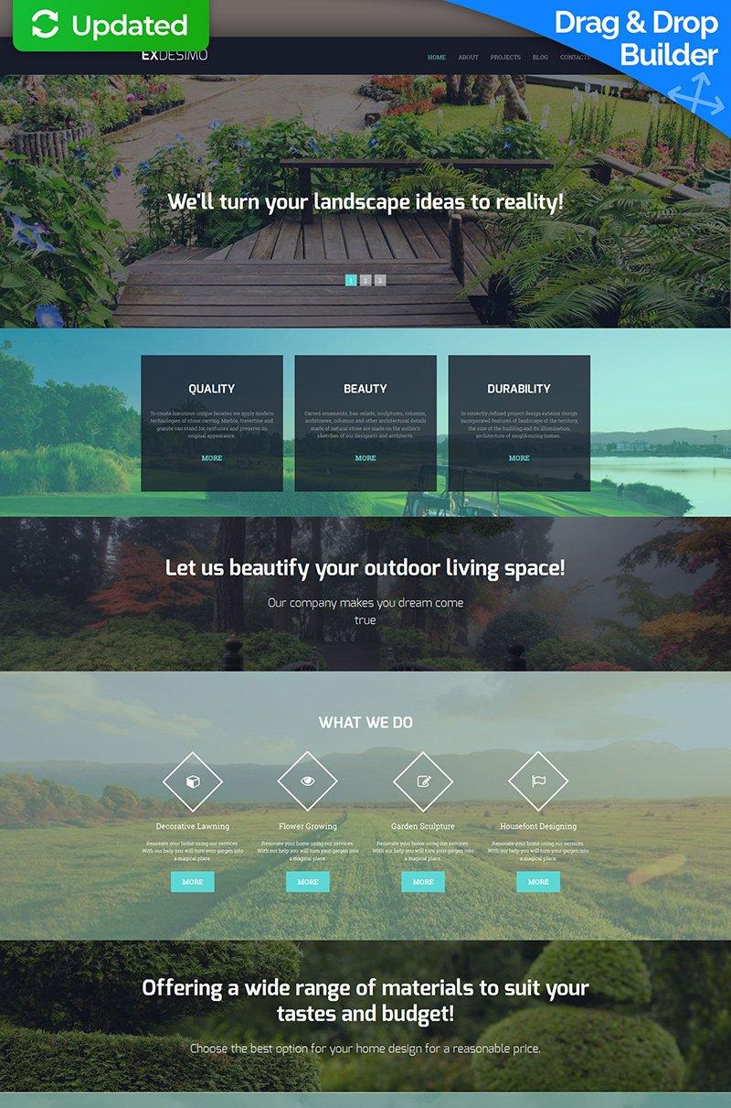 Responsives Moto CMS 3 Template für Landschaftsgestaltung #58433 - Screenshot