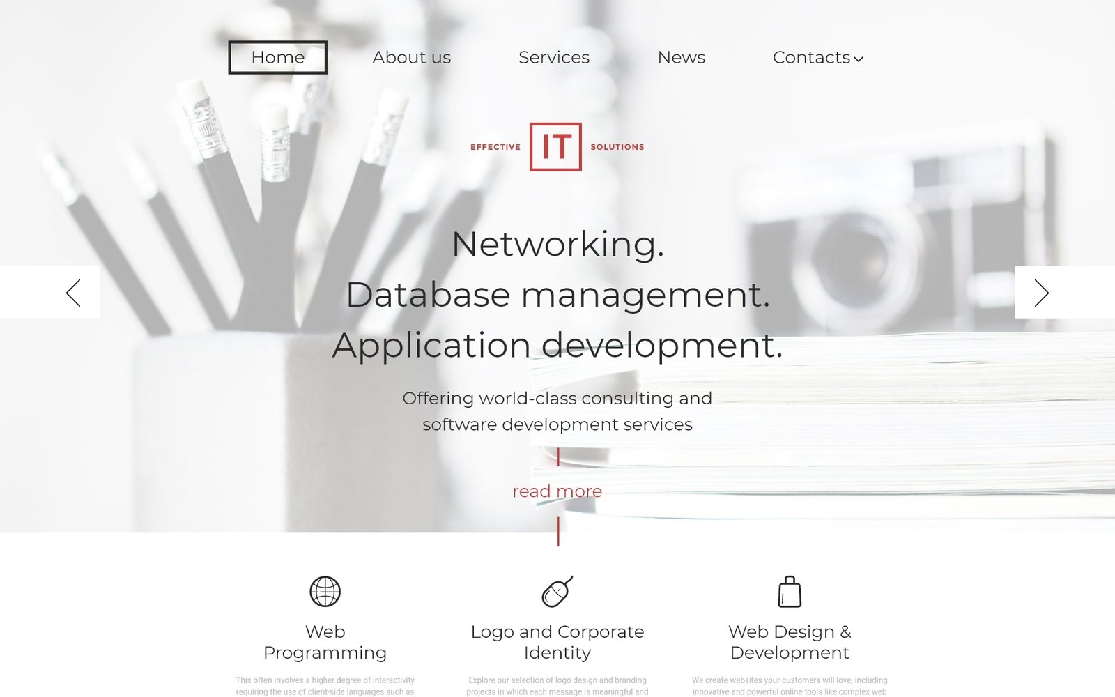 Responsivt Effective IT Solutions WordPress-tema #58454