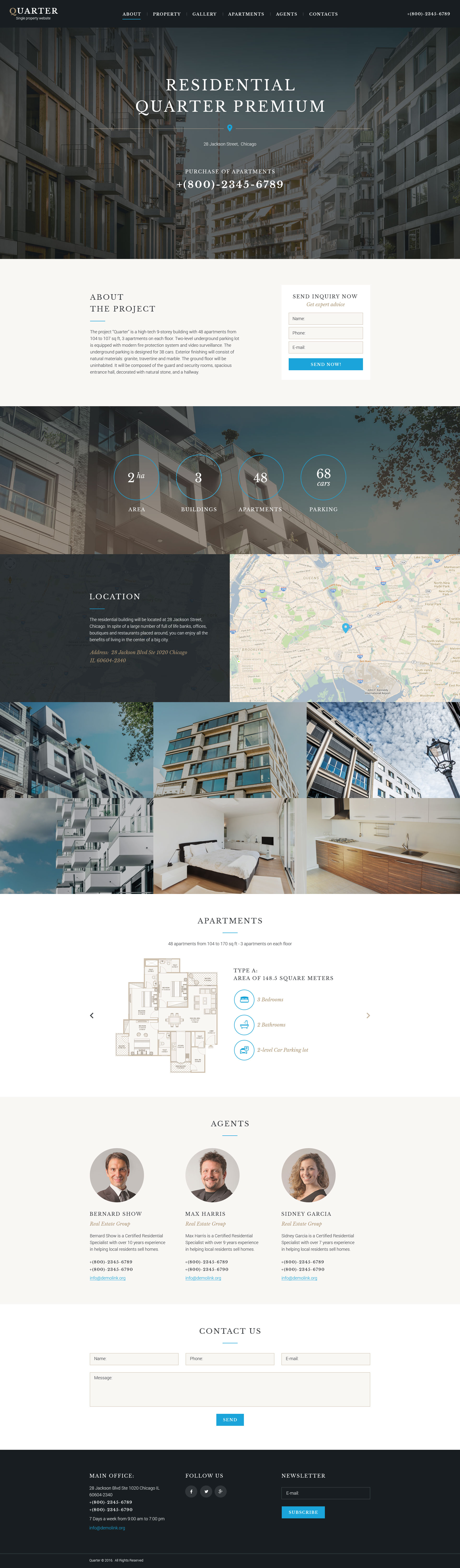 Responsivt Landing Page-mall #58467