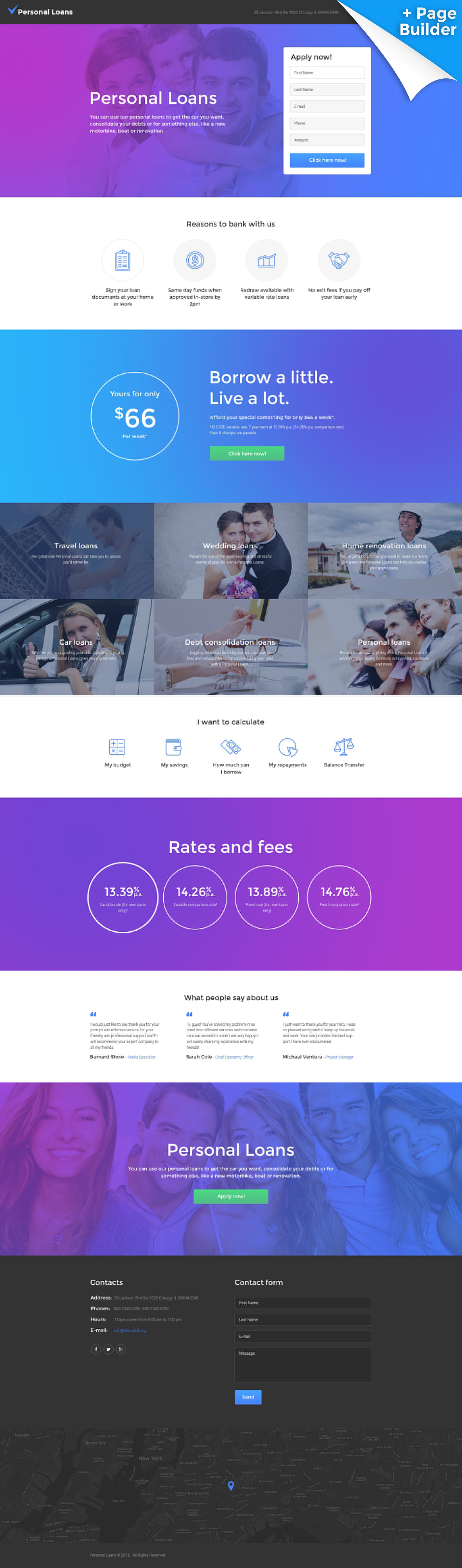 Responsivt Landing Page-mall #58478