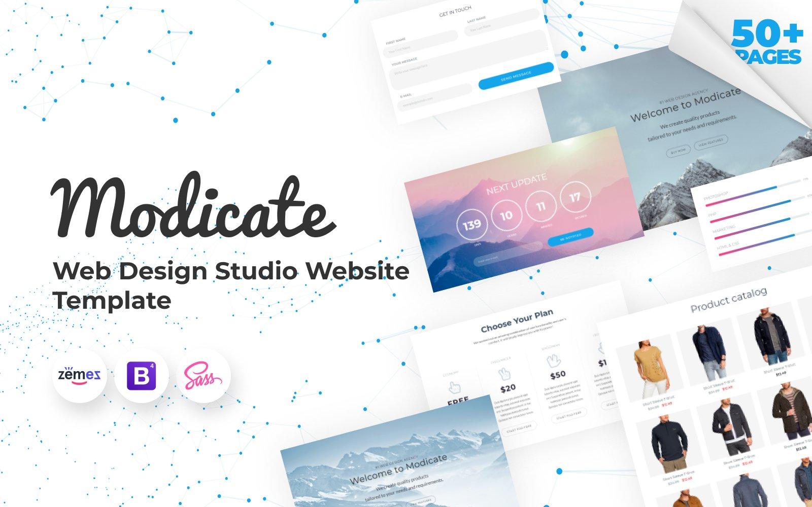 Responsivt Modicate - Web Design Studio Website Template Hemsidemall #58434