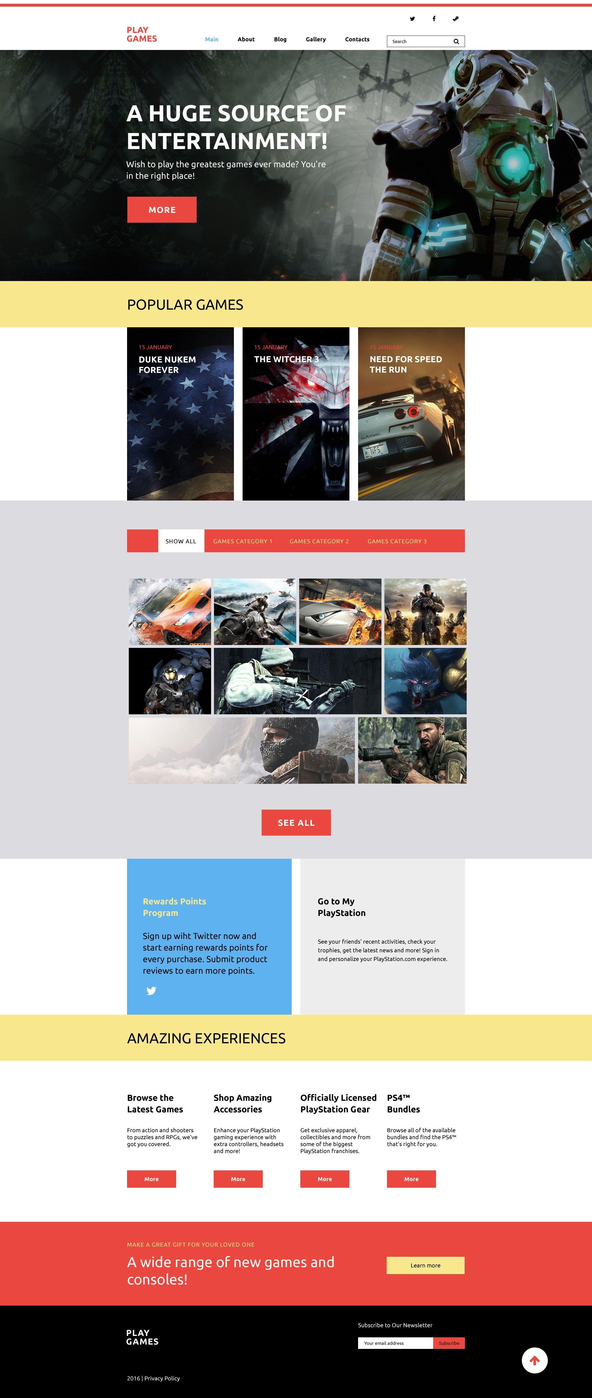 Responsivt Play Games WordPress-tema #58412