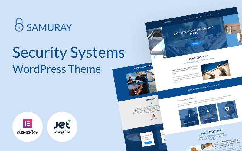 Responsivt Samuray - Elementor-based security WordPress-tema #58441