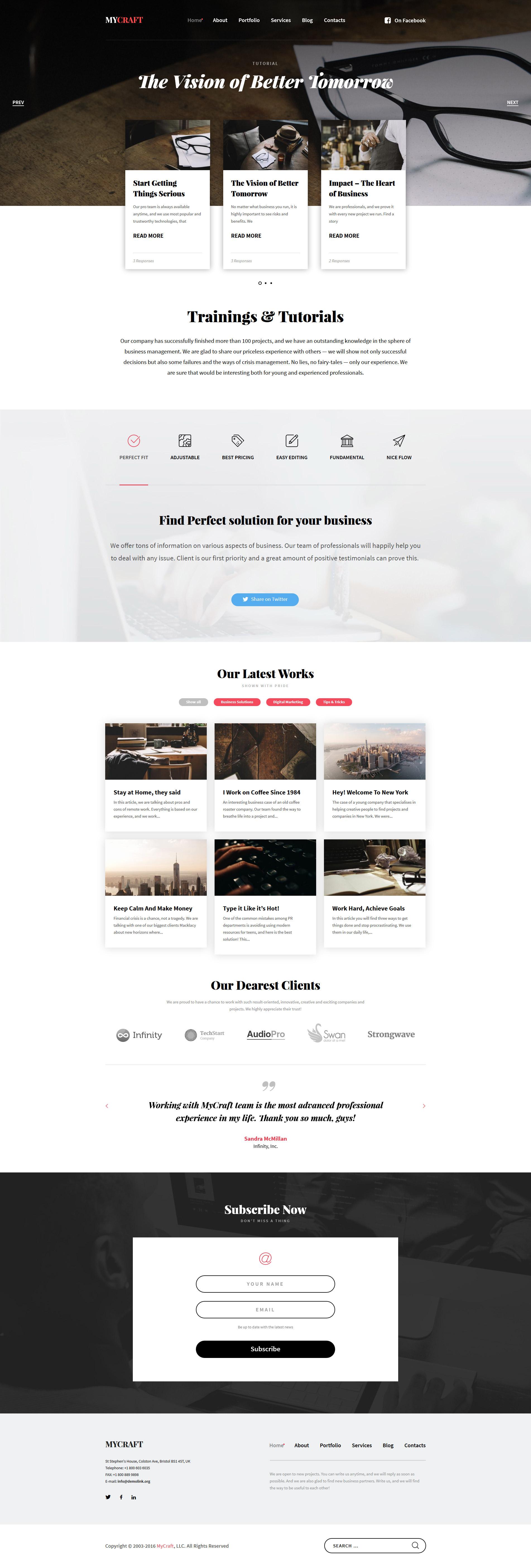 Responsywny motyw WordPress #58494 na temat: rzemieślnictwo - zrzut ekranu