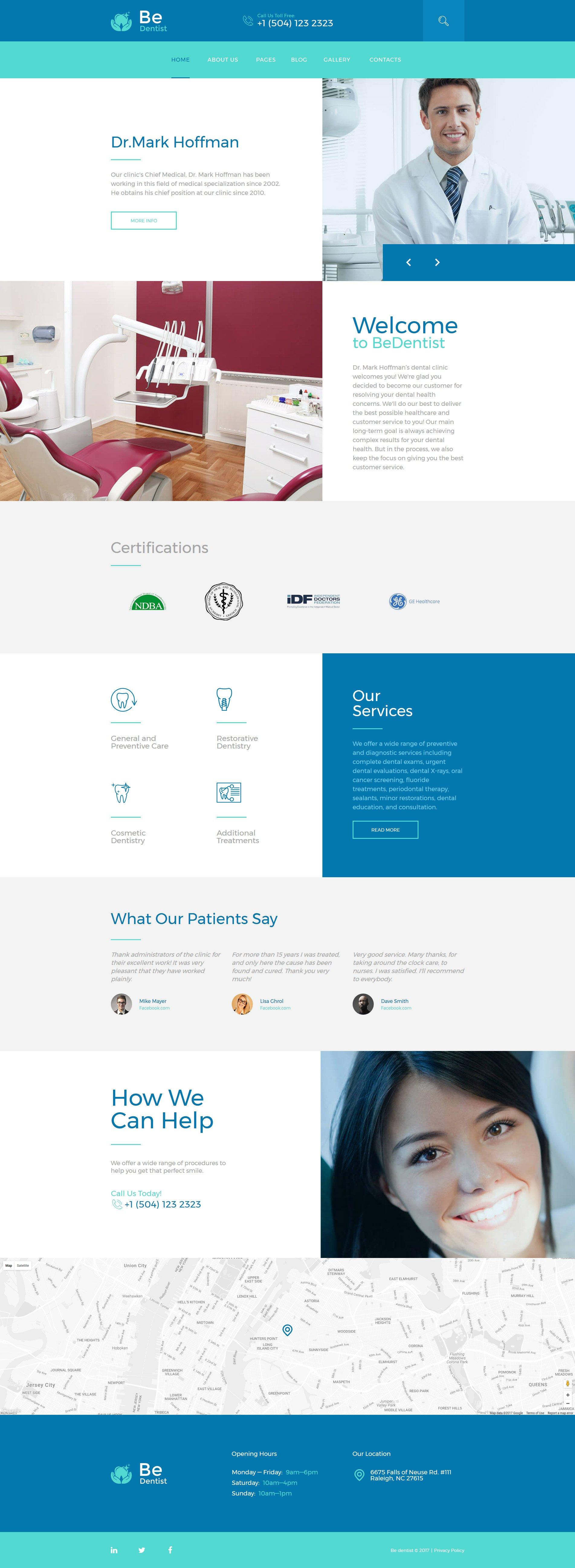 Responsywny szablon Joomla BeDentist - klinika dentystyczna #58449