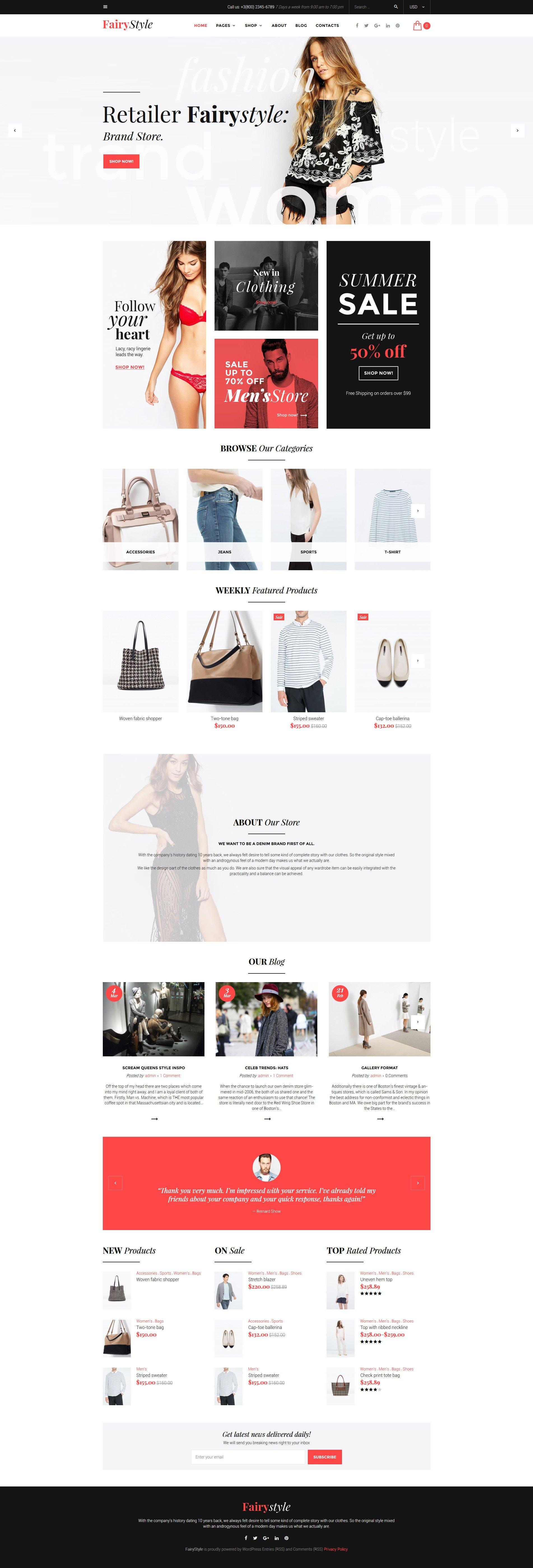 "Responzivní WooCommerce motiv ""Fairy Style - Fashion Store"" #58499"