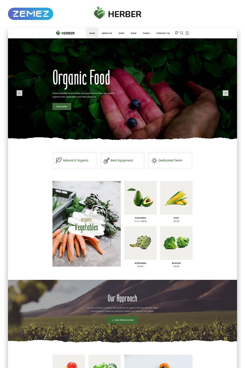 Reszponzív Herber - Accurate Organic Food Online Store Weboldal sablon 58411