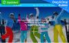 Reszponzív Síelés témakörű  Moto CMS 3 sablon New Screenshots BIG