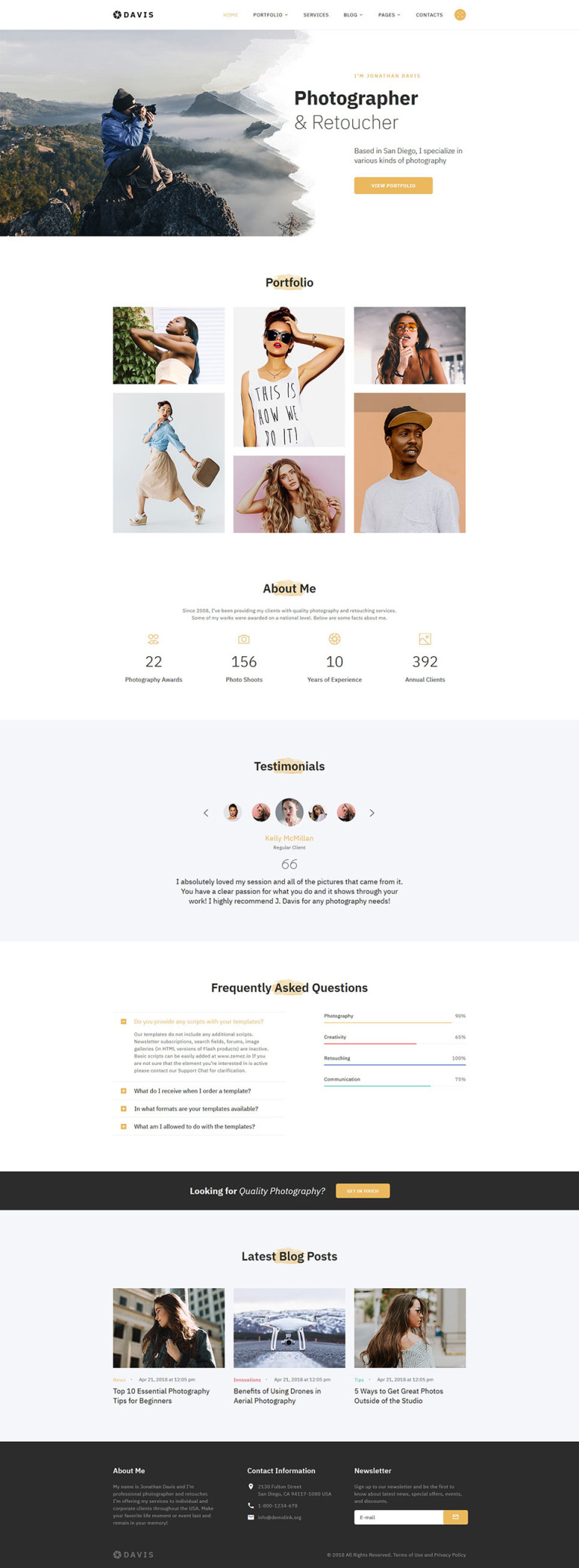 Rombic Website Template New Screenshots BIG