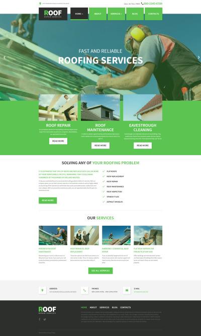 Roof Repair WordPress Theme #58408