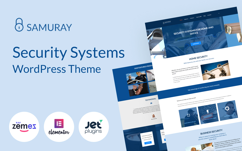 """Samuray - Elementor-based security"" thème WordPress adaptatif #58441"