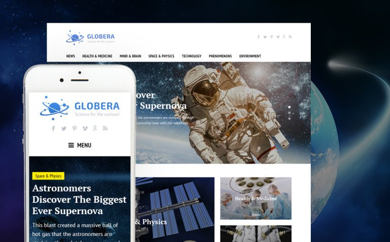 Science News Portal & Magazine WordPress Theme New Screenshots BIG