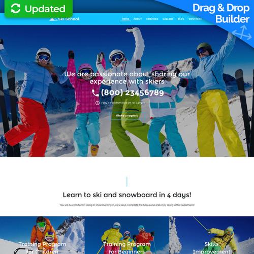 Ski School - MotoCMS 3 Template based on Bootstrap