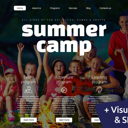 Summer Camp - MotoCMS 3 Template based on Bootstrap