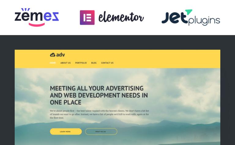 Tema de WordPress #58493 para Sitio de Agencias de publicidad