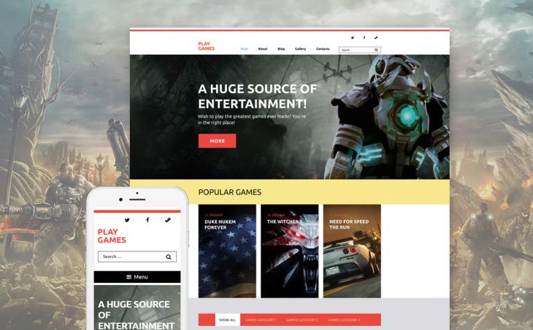 Tema de WordPress #58412 para Sitio de Juegos