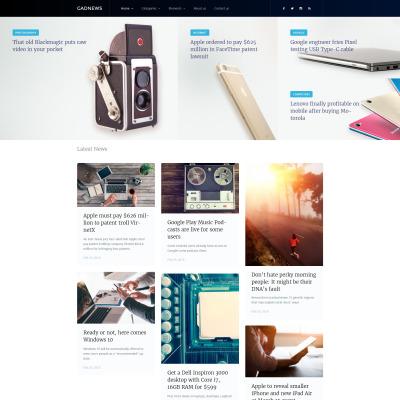 Tema de WordPress #58445 para Sitio de Portal de Noticias