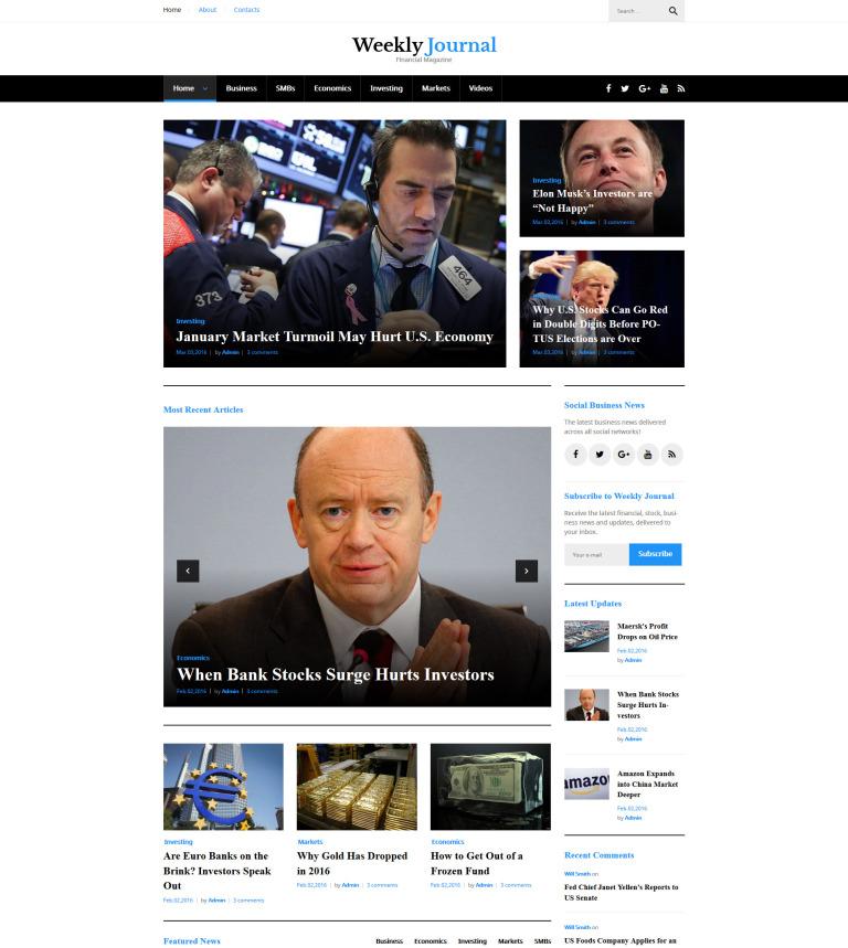 Tema de WordPress #58497 para Sitio de Portal de Noticias