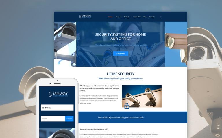 Tema de WordPress #58441 para Sitio de Seguridad