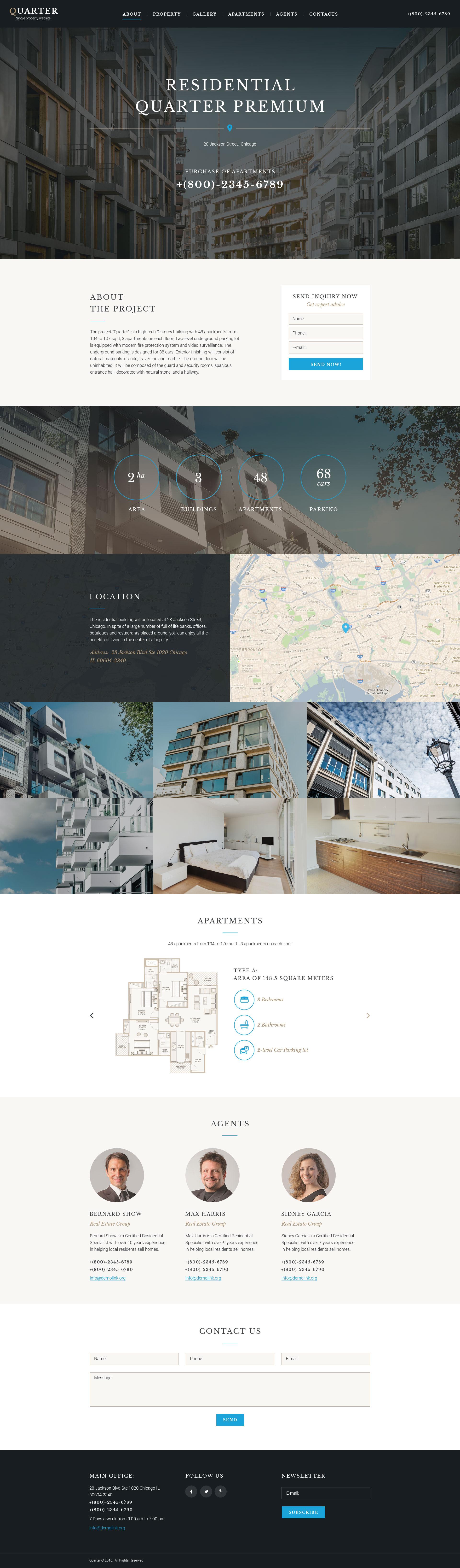 Tema di Landing Page Responsive #58467 per Un Sito di Beni Immobiliari