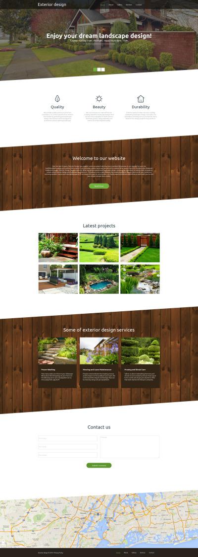 Exterior Design Tema Moto CMS HTML