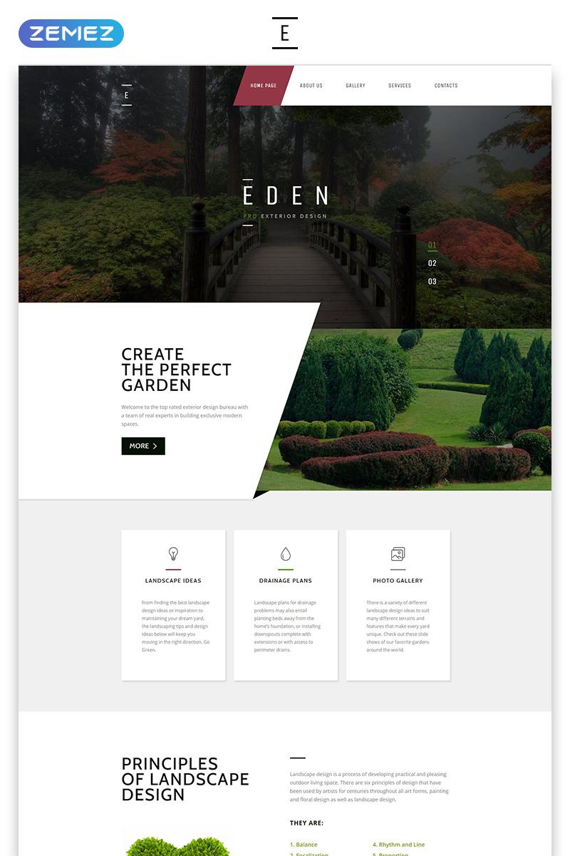 "Tema Siti Web Responsive #58440 ""Eden - Exterior Design Modern Responsive HTML"""