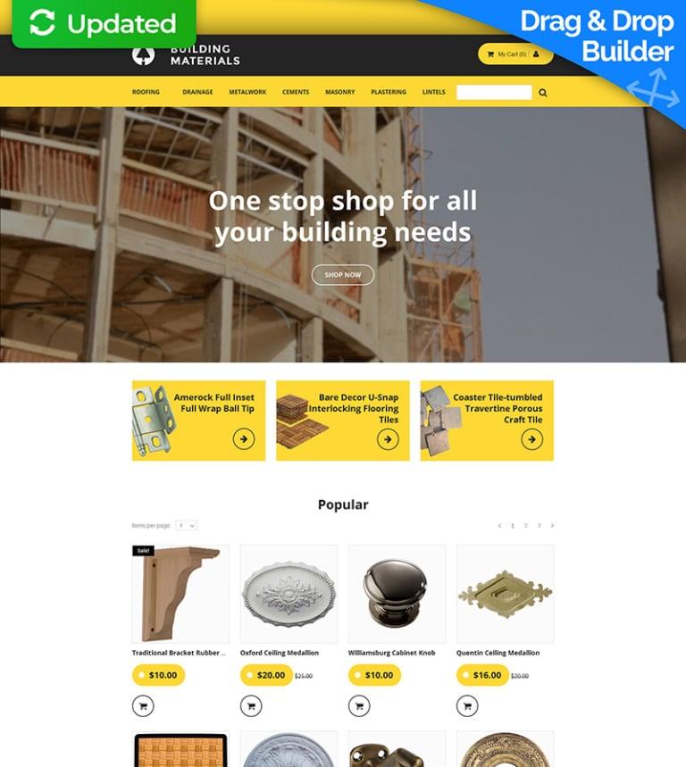 eab28b1af Template Ecommerce MotoCMS Flexível para Sites de Material de Construção  №58484