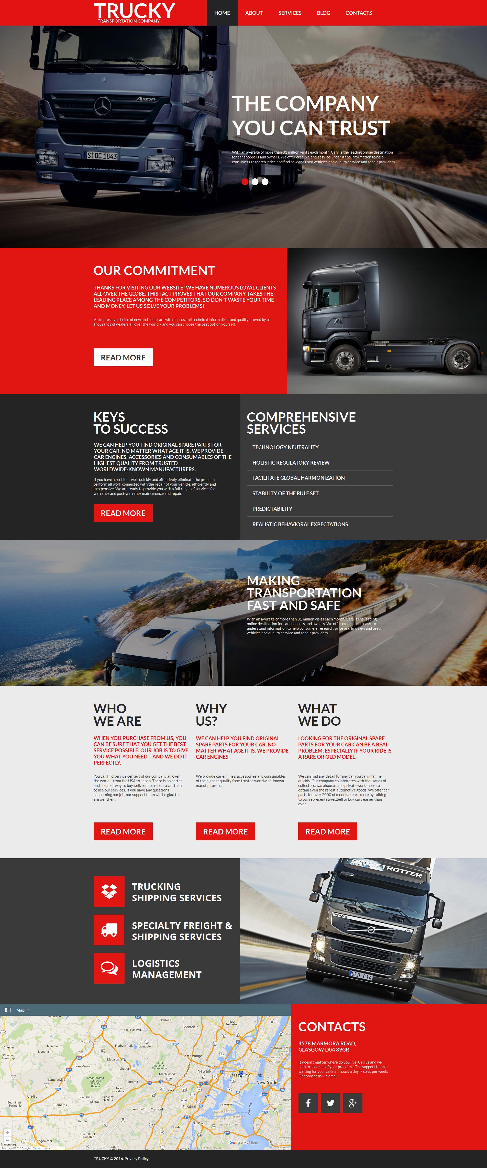 Template Moto CMS HTML para Sites de Caminhão №58471