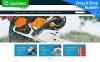 Template MotoCMS E-commerce Responsive #58483 per Un Sito di Utensili e Attrezzature New Screenshots BIG