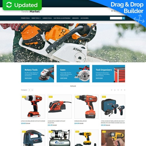 Tools Market - MotoCMS Ecommerce Template based on Bootstrap