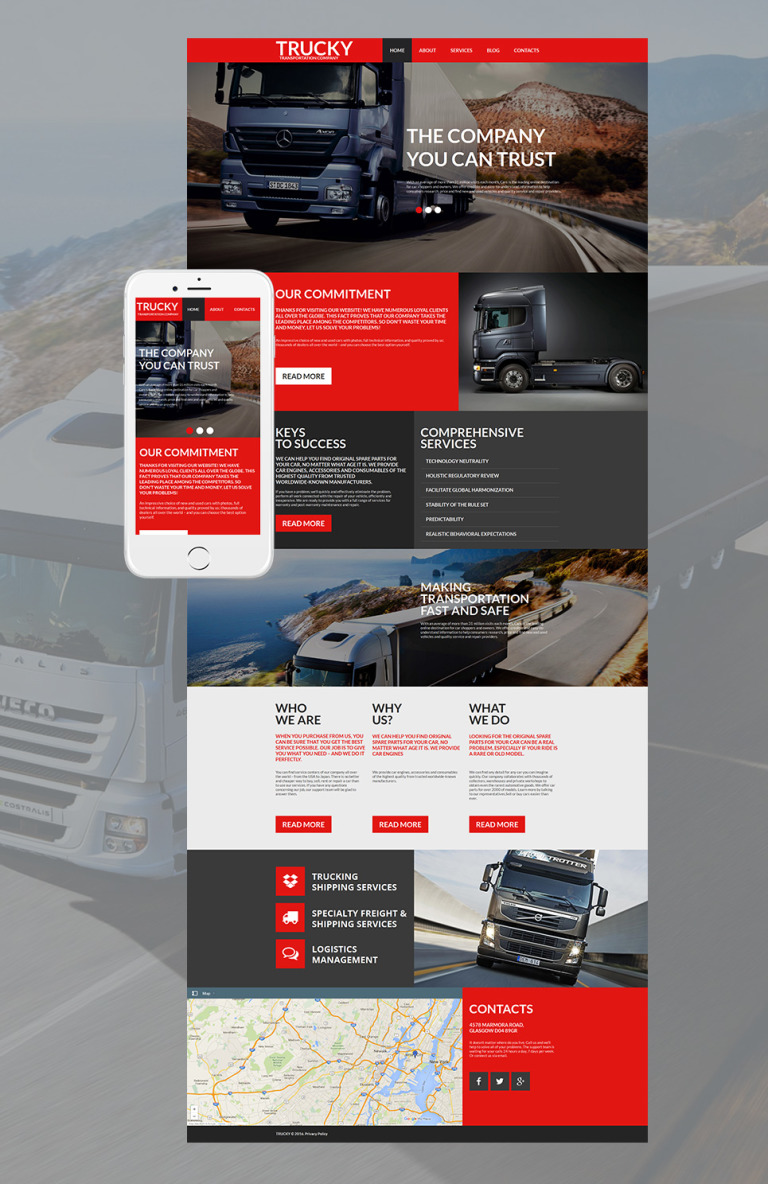 Trucking Moto CMS HTML Template New Screenshots BIG