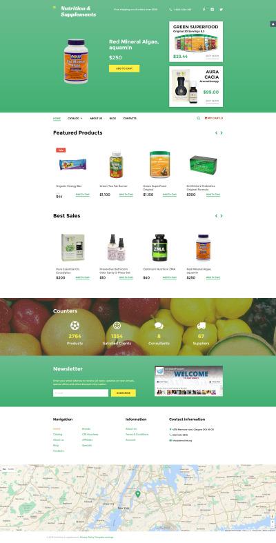Адаптивный VirtueMart шаблон №58495 на тему спортивное питание