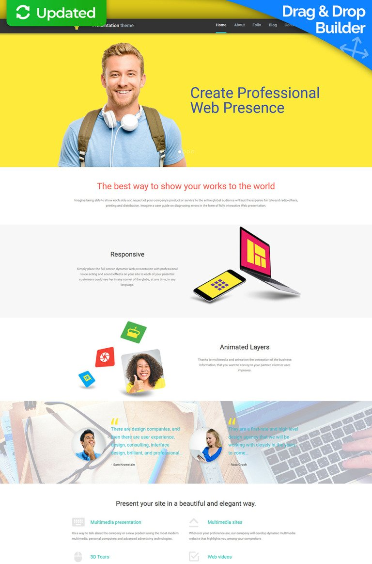 Web Design Responsive Moto CMS 3 Template New Screenshots BIG