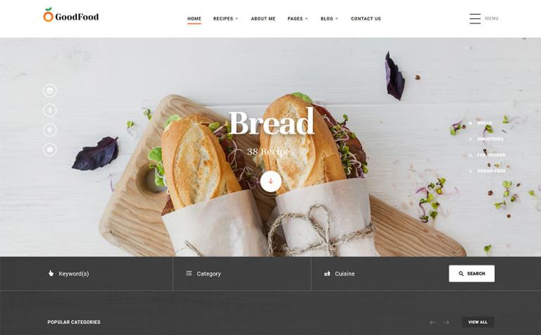 Website Vorlage #58456 für Kochen
